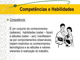 Competência e Habilidades