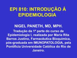 1 - EPI 810: INTRODUÇÃO À EPIDEMIOLOGIA.
