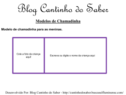 Blog Cantinho do Saber