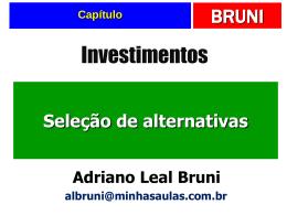 9. Seleção de projetos de investimentos.