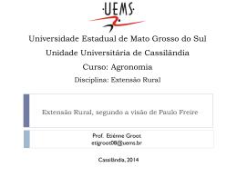 Tema 2. Extensao Rural segundo Paulo Freire