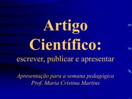 Artigo científico - Faculdade Dom Bosco