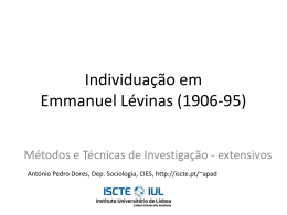 Individuação em Emmanuel Lévinas
