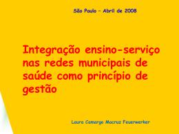 Integração ensino-serviço nas redes municipais de saúde como