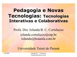 Pedagogia e Novas Tecnologias