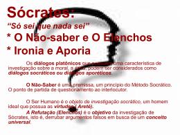 Sócrates: O Não-saberElenchos