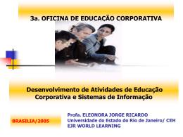 Desenvolvimento de Atividades de educação Corporativa e