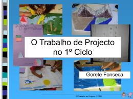 trabalho de projecto no 1º ciclo