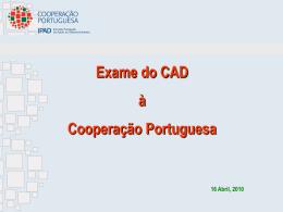 Exame CAD-2010 - Plataforma Portuguesa das ONGD