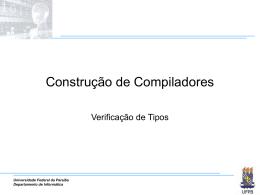Verificação de Tipos - Departamento de Informática — UFPB