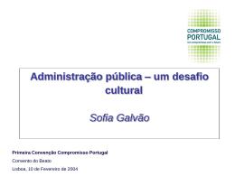 PPT 275KB - Compromisso Portugal
