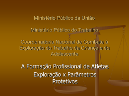 Ministério Público da União Ministério Público do Trabalho
