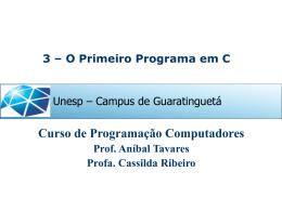 Tópico 3-1o. Programa em C