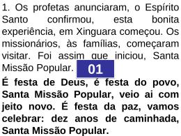 Cantos das SMP - Santas Missões Populares Guarapuava