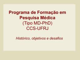 Programa de Formação em Pesquisa Médica UFRJ