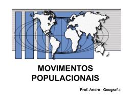 MOVIMENTOS POPULACIONAIS