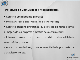 Objetivos da Comunicação Mercadológica