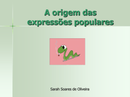 A origem das express..