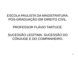aula. escola paulista da magistratura. sucessão do