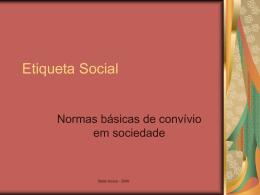 Etiqueta Social - Ensino Nacional