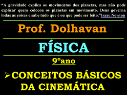 Cinematica 9 ano CAP 1