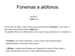 Fonemas e alófonos