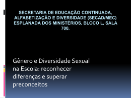 Secretaria de Educação Continuada, Alfabetização e Diversidade