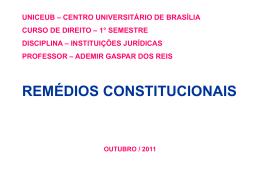 apresentação remédios constitucionais
