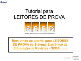 Tutorial para LEITORES DE PROVA - Núcleo de Editoração Eletrônica