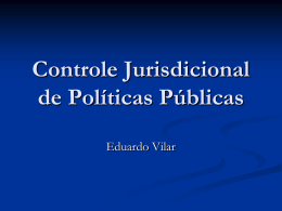 Controle Jurisdicional de Políticas Públicas - TCE-RO