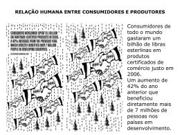 ppt - Relações entre consumo e produção no mundo