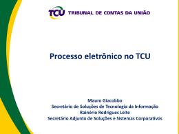 Apresentação TCU – Resumida