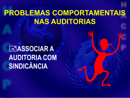 Problemas Comportamentais na Auditoria