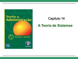 Cap. 14 – A Teoria de Sistemas