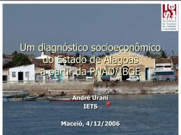 Um diagnóstico socioeconômico do Estado de Alagoas a partir da
