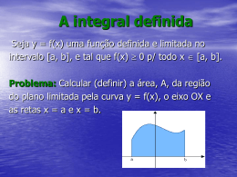 A integral definida - Professora Edmary
