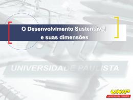 O Desenvolvimento Sustentável e suas dimensões