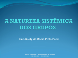 A NATUREZA SISTÊMICA DOS GRUPOS