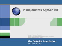 Planejamento AppSec-BR
