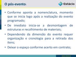 O pós-evento