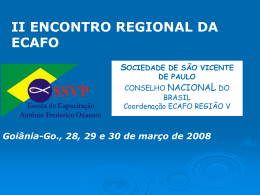Apresentação Sede Santos - Conselho Metropolitano de Goiânia da