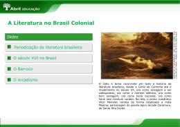 A Literatura no Brasil Colonial