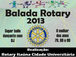 Apresentação sobre Rotary e Família Rotária