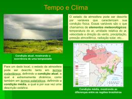 U1.1 - Conceitos: Tempo e Clima