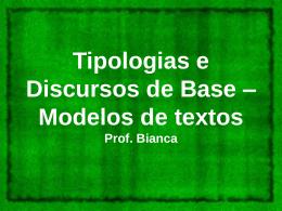 Tipologias e Discursos de Base