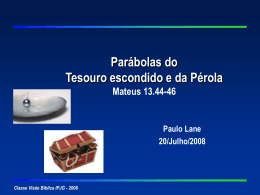 Parábola do Tesouro Escondido e da Pérola, Mateus 13.44-46