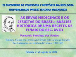 II ENCONTRO DE FILOSOFIA E HISTÓRIA DA BIOLOGIA