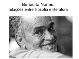 Benedito Nunes: relações entre filosofia e literatura