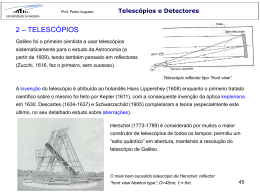Telescópios e Detectores - Universidade da Madeira