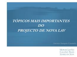Apresentação em PowerPoint do Dr. Sampaio Caramelo